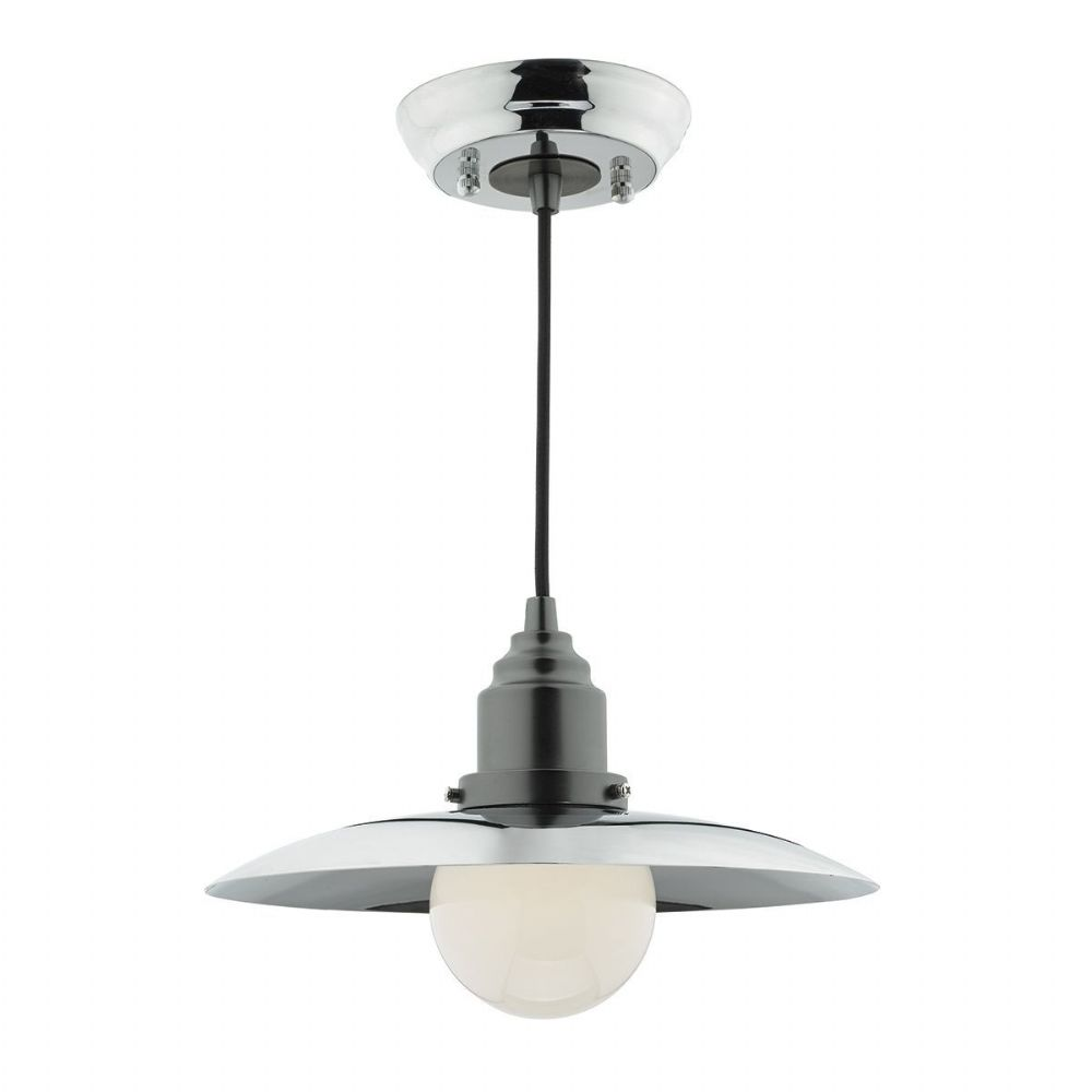 Hannover 1 Light Pendant Polished Chrome Antique Chrome (Class 2 Double Insulated) BXHAN0150-17